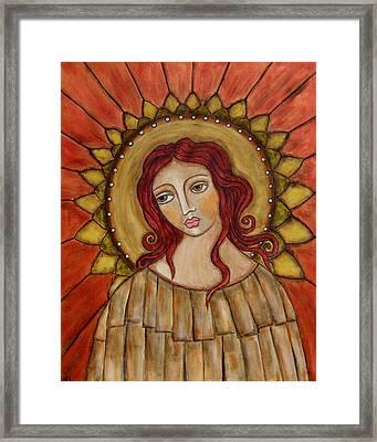 Angel Of Nature Framed Print by Rain Ririn