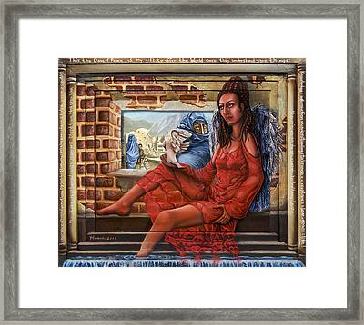 Angel Of Peace Framed Print by Karen Musick