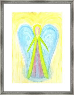 Angel Of Protection Framed Print by Konstadina Sadoriniou - Adhen