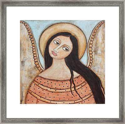 Angel Of Silence Framed Print by Rain Ririn