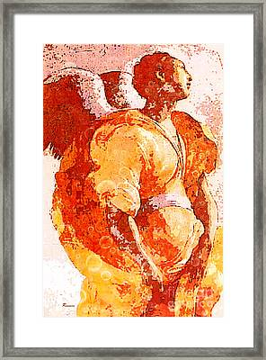 Angel Of The Annunciation Framed Print by Tammera Malicki-Wong