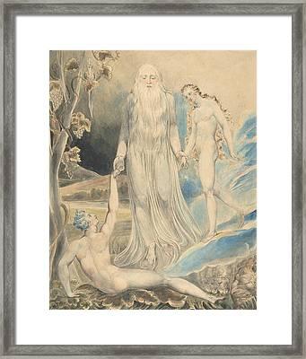 Angel Of The Divine Presence Bringing Eve To Adam Framed Print