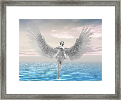 Angel Of The Future Framed Print by Quim Abella