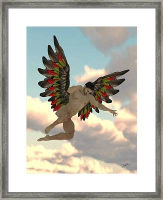 Angel Of The Party Framed Print