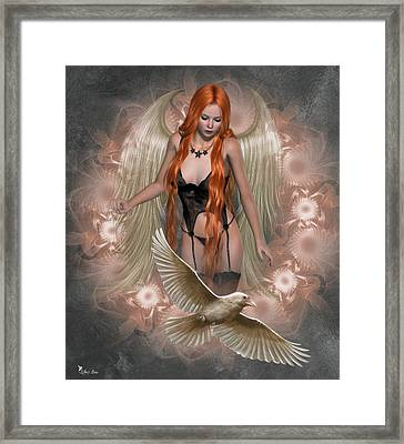 Angel Of The Ravens Framed Print