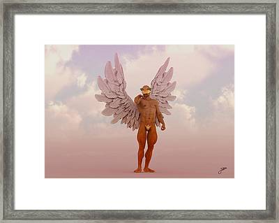Angel Of The Rose Wine Framed Print