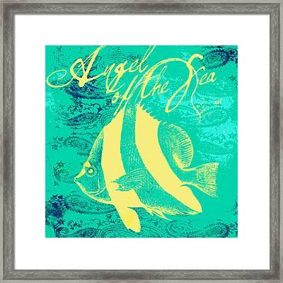 Angel Of The Sea Framed Print by Brandi Fitzgerald