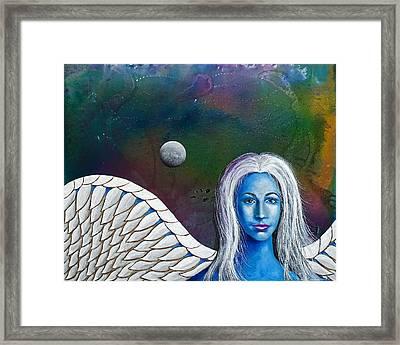 Angel Of The Shepherd Moon Framed Print by Lee Pantas