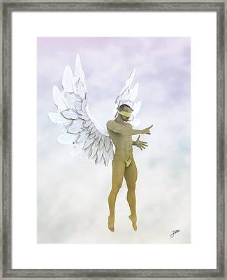Angel Of The Sugar Cloud Framed Print
