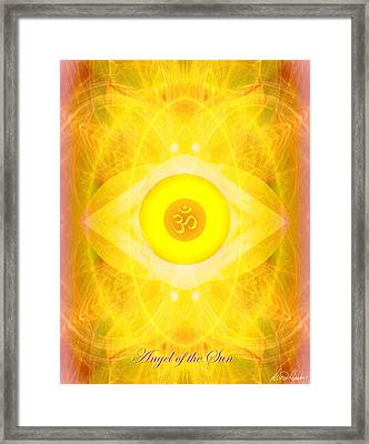 Angel Of The Sun Framed Print