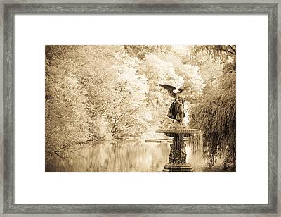 Angel Of The Waters Framed Print by Andria Patino