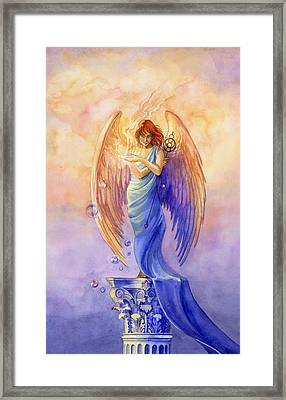 Angel Of Truth And Illusion Framed Print by Janet Chui