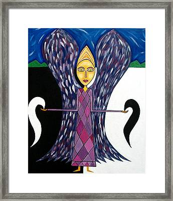 Angel Of Ying Yang Framed Print