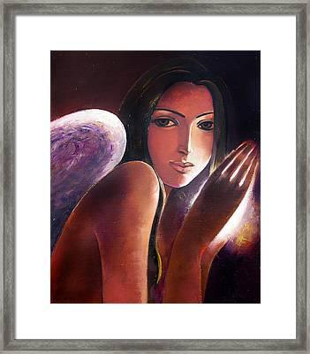 Angel Framed Print by Ognian Kouzmanoav