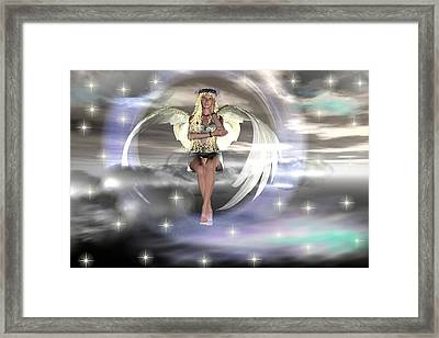 Angel On A Cloud Framed Print by Eva Thomas
