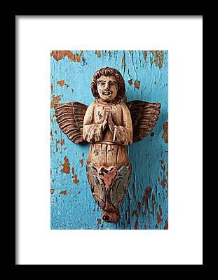Angel Blues Framed Prints