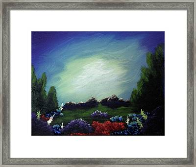 Angel On The Rocks Framed Print