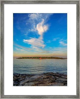 Angel Overcast Framed Print