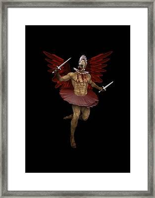Angel Clown Framed Print by Quim Abella