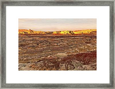 Framed Print featuring the photograph Angel Peak Badlands - New Mexico - Landscape by Jason Politte