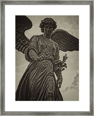 Angel Statue Bethesda Fountain Central Park Framed Print