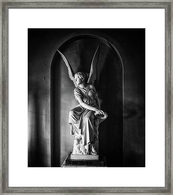 Angel Statue Framed Print by Martin Newman