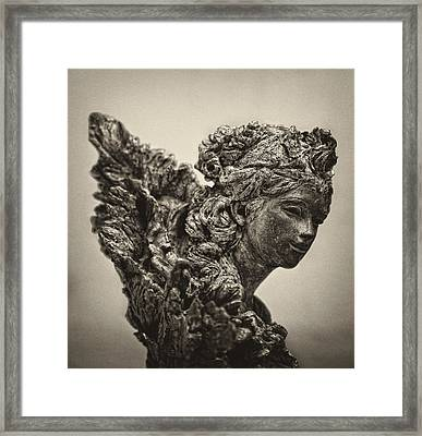 Angel Statue Framed Print by Robert Ullmann