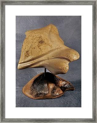Angel Stone Framed Print by Lonnie Tapia