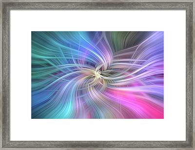 Angel Support. Mystery Of Colors Framed Print by Jenny Rainbow