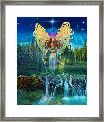 Angel Tarot Card Archangel Jophiel  Framed Print by Steve Roberts