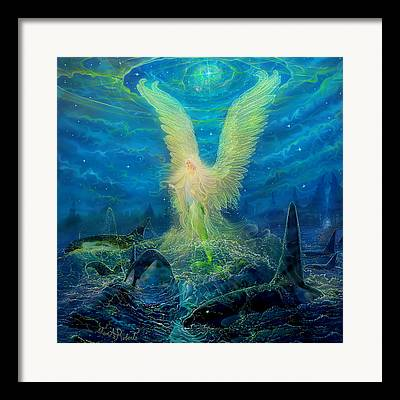 Angel Mermaids Ocean Framed Prints
