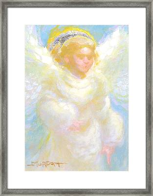 Angel Transmitting Light Framed Print by John Murdoch