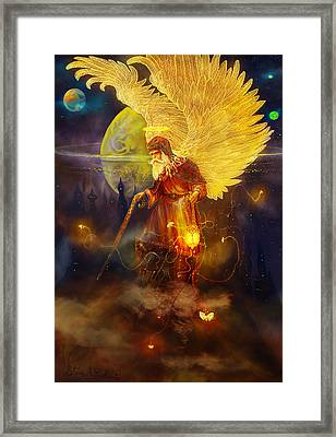 Angel Uriel Framed Print by Steve Roberts