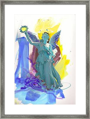 Angel, Victory Is Now Framed Print by Amara Dacer