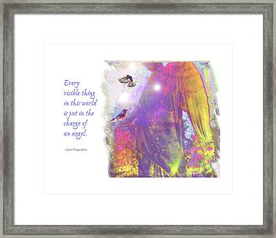 Framed Print featuring the photograph Angel Vision by Marie Hicks