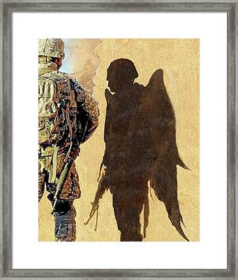 Angel Waiting Framed Print by Todd Krasovetz
