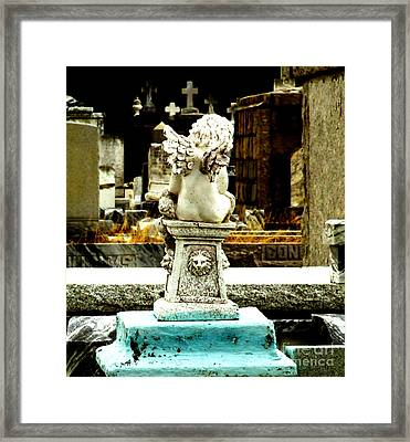 Angel Watching Over Me Framed Print