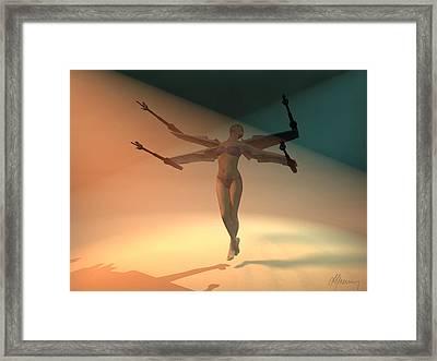 Angel Wing  Framed Print by Michael Greenaway