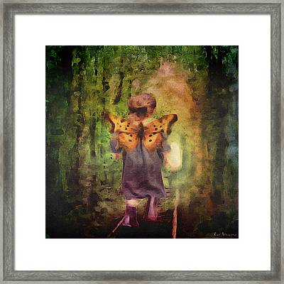 Angel Wings Framed Print by Lisa Noneman