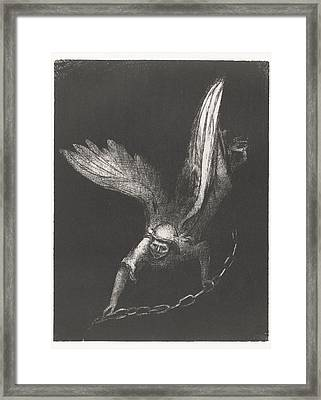 Angel With A Chain In His Hands Framed Print by MotionAge Designs