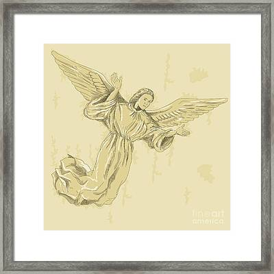 Angel With Arms Spread Framed Print