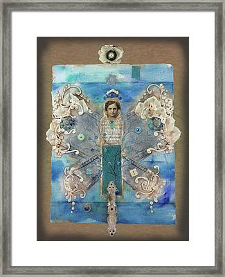 Angel With Blue Stripe Framed Print
