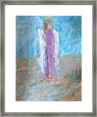 Angel With Confidence Framed Print