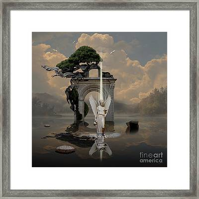 Framed Print featuring the digital art Angel With Life Elixir by Alexa Szlavics