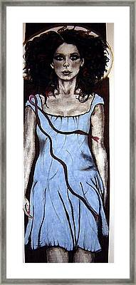Angel With Ribbon Framed Print by Chrissa Arazny- Nordquist