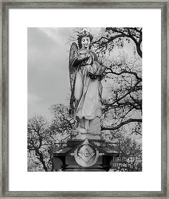 Angel With Star And Sky Framed Print