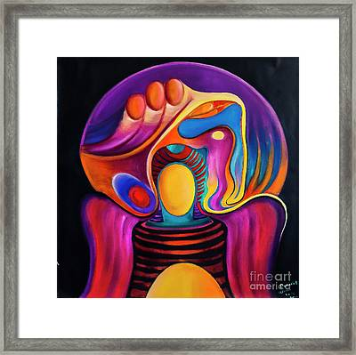 Angel With The Weight Of The World Framed Print