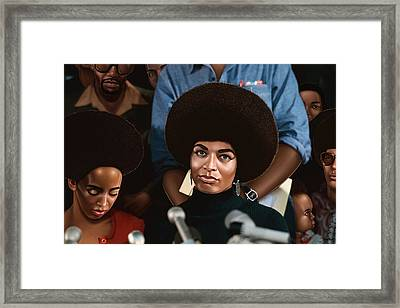 Angela Davis Drawing Framed Print by Jovemini ART