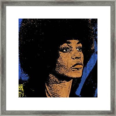 Angela Davis-2 Framed Print