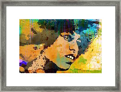 Angela Davis-4a Framed Print